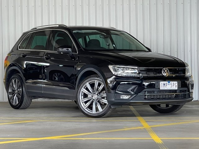 Used Volkswagen Tiguan 5N MY18 162TSI DSG 4MOTION Sportline Moorabbin, 2018 Volkswagen Tiguan 5N MY18 162TSI DSG 4MOTION Sportline Black 7 Speed