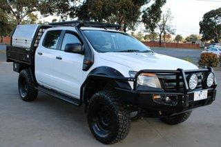 2012 Ford Ranger PX XL 2.2 (4x4) White 6 Speed Manual Crew Cab Utility.