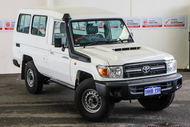 Pre-Owned Toyota Landcruiser VDJ78R Workmate Troopcarrier Myaree, 2021 Toyota Landcruiser VDJ78R Workmate Troopcarrier French Vanilla 5 Speed Manual Wagon