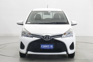 2016 Toyota Yaris NCP130R Ascent White 4 Speed Automatic Hatchback.