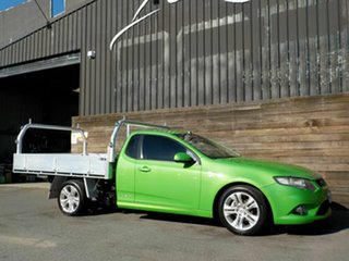 2009 Ford Falcon FG XR6 Super Cab Green 5 Speed Sports Automatic Cab Chassis.
