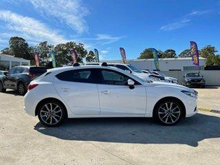 2016 Mazda 3 BM5438 SP25 SKYACTIV-Drive Astina White 6 Speed Sports Automatic Hatchback.