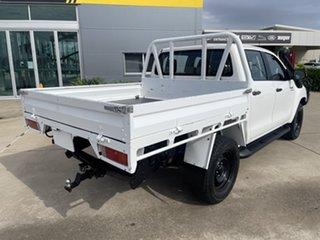 2017 Toyota Hilux GUN126R SR Double Cab White/291217 6 Speed Sports Automatic Utility.