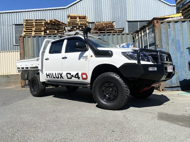 Used Toyota Hilux KUN26R MY12 SR5 Double Cab Slacks Creek, 2012 Toyota Hilux KUN26R MY12 SR5 Double Cab White 5 Speed Manual Utility