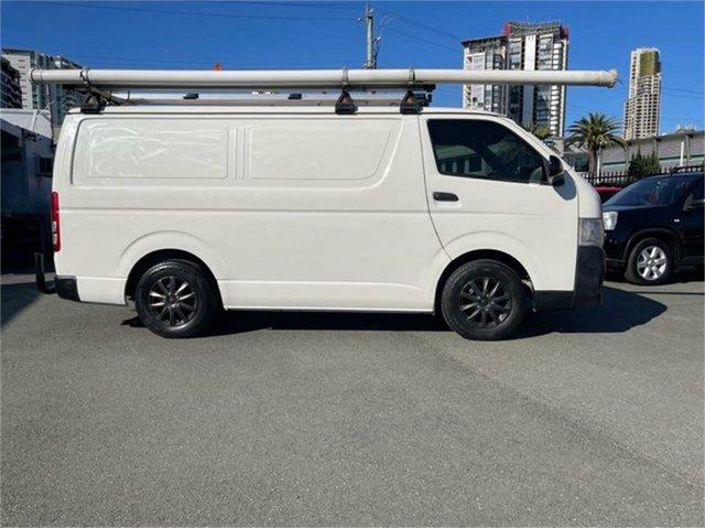 Used Toyota HiAce TRH201R MY12 Upgrade LWB Southport, 2013 Toyota HiAce TRH201R MY12 Upgrade LWB White 5 Speed Manual Van