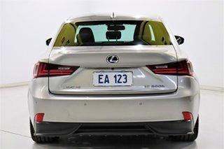 2014 Lexus IS AVE30R IS300h F Sport Silver 1 Speed Constant Variable Sedan Hybrid