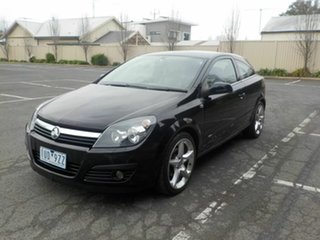 2007 Holden Astra AH MY07 CDX Black 4 Speed Automatic Coupe.