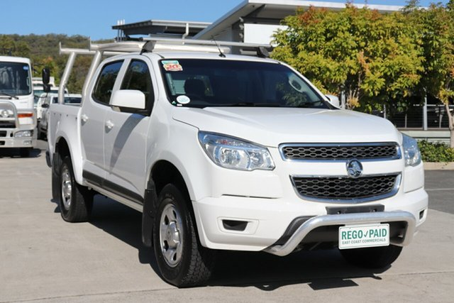 Used Holden Colorado RG MY15 LS Crew Cab 4x2 Robina, 2014 Holden Colorado RG MY15 LS Crew Cab 4x2 White 6 speed Automatic Utility