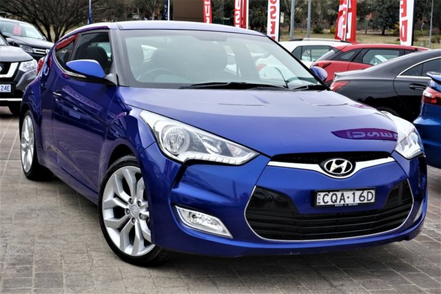 Used Hyundai Veloster FS Coupe Phillip, 2012 Hyundai Veloster FS Coupe Blue 6 Speed Manual Hatchback