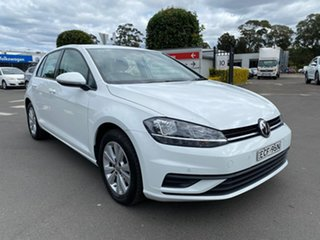 2018 Volkswagen Golf 7.5 MY19 110TSI DSG Trendline White 7 Speed Sports Automatic Dual Clutch.