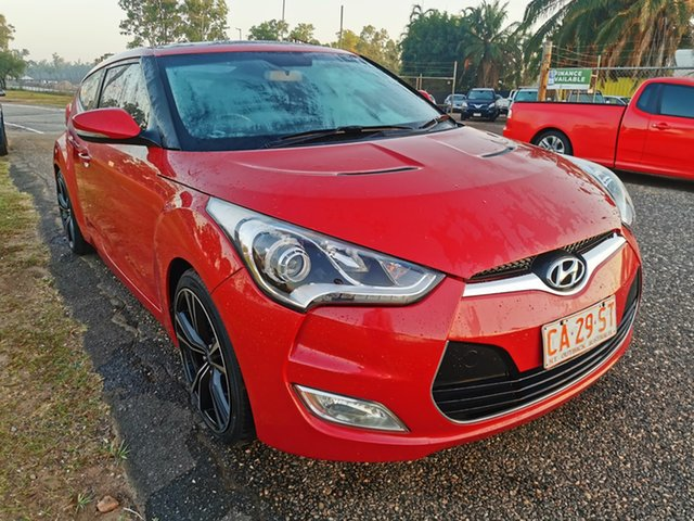 Used Hyundai Veloster FS Coupe Pinelands, 2012 Hyundai Veloster FS Coupe Red 6 Speed Manual Hatchback