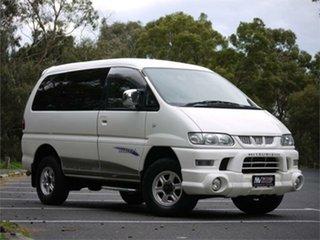 2005 Mitsubishi Delica PD6W Spacegear White 4 Speed Automatic Van Wagon.