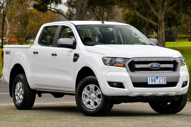 Used Ford Ranger PX MkII 2018.00MY XLS Double Cab Dandenong, 2018 Ford Ranger PX MkII 2018.00MY XLS Double Cab White 6 Speed Sports Automatic Utility