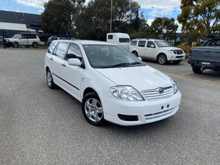 2005 Toyota Corolla ZZE122R 5Y Ascent White 4 Speed Automatic Wagon.