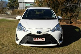 2017 Toyota Yaris NCP130R Ascent White 5 Speed Manual Hatchback.