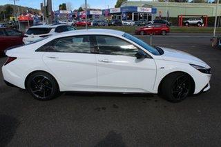 2021 Hyundai i30 CN7.V1 MY21 N Line D-CT Polar White 7 Speed Sports Automatic Dual Clutch Sedan.