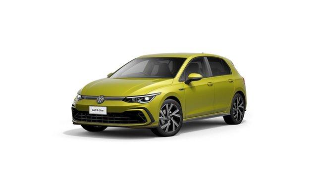 New Volkswagen Golf 8 110TSI R-Line Hamilton, 2021 Volkswagen Golf 8 110TSI R-Line Pomelo Yellow 8 Speed Automatic Hatchback