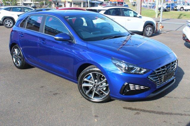 New Hyundai i30 PD.V4 MY21 Active North Gosford, 2021 Hyundai i30 PD.V4 MY21 Active Intense Blue 6 Speed Sports Automatic Hatchback