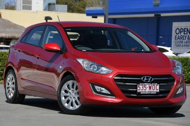 Used Hyundai i30 GD4 Series II MY17 Active Aspley, 2016 Hyundai i30 GD4 Series II MY17 Active Red 6 Speed Sports Automatic Hatchback