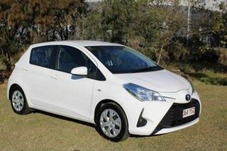2017 Toyota Yaris NCP130R Ascent White 5 Speed Manual Hatchback