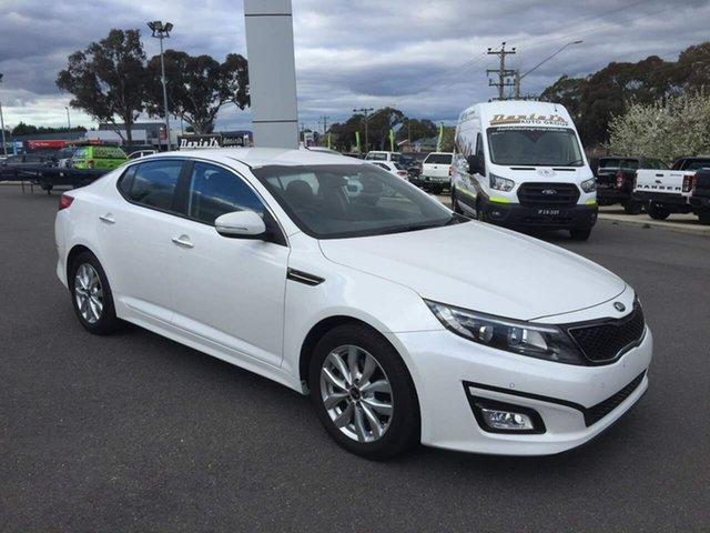 Used Kia Optima SI Goulburn, 2014 Kia Optima SI White Sports Automatic Sedan