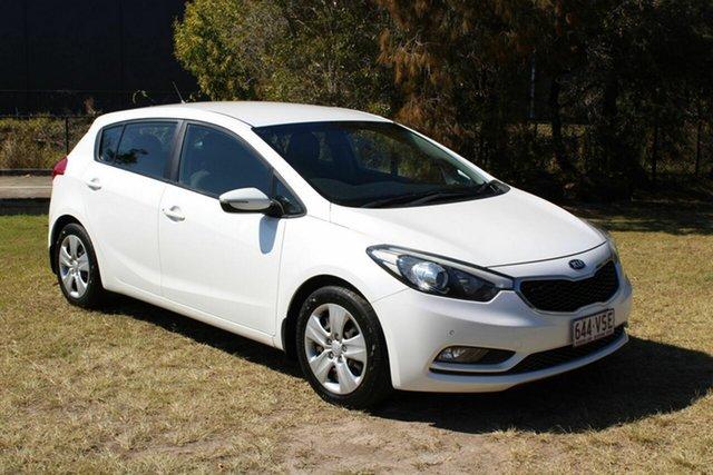 Used Kia Cerato YD MY15 S Ormeau, 2015 Kia Cerato YD MY15 S White 6 Speed Sports Automatic Hatchback
