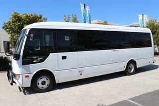 2014 Mitsubishi Fuso Rosa BE64D Deluxe White Manual Midi Coach.