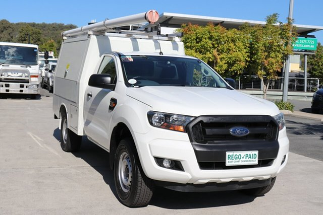 Used Ford Ranger PX MkII XL Hi-Rider Robina, 2017 Ford Ranger PX MkII XL Hi-Rider White 6 speed Automatic Cab Chassis