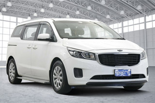 2015 Kia Carnival YP MY15 S Clear White 6 Speed Sports Automatic Wagon.