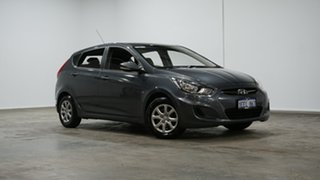2012 Hyundai Accent RB Active Grey 4 Speed Sports Automatic Hatchback.