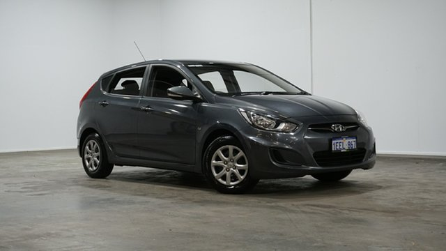 Used Hyundai Accent RB Active Welshpool, 2012 Hyundai Accent RB Active Grey 4 Speed Sports Automatic Hatchback
