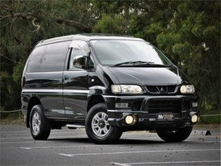 2006 Mitsubishi Delica PD6W Spacegear Black 4 Speed Automatic Van Wagon.