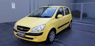 2009 Hyundai Getz TB MY09 S Yellow 4 Speed Automatic Hatchback.
