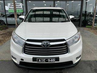 2015 Toyota Kluger GSU55R Grande (4x4) Pearl White 6 Speed Automatic Wagon.