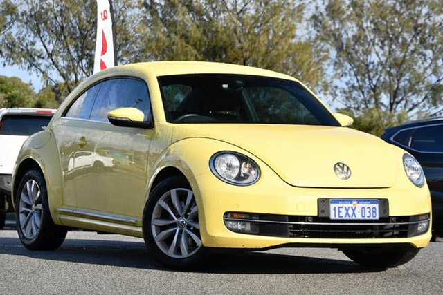 Used Volkswagen Beetle 1L MY15 Coupe DSG Clarkson, 2015 Volkswagen Beetle 1L MY15 Coupe DSG Yellow 7 Speed Sports Automatic Dual Clutch Liftback