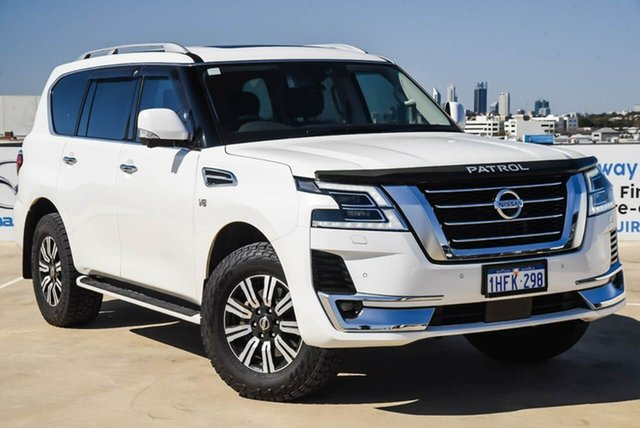 Used Nissan Patrol Y62 Series 5 MY20 TI-L Osborne Park, 2020 Nissan Patrol Y62 Series 5 MY20 TI-L White 7 Speed Sports Automatic Wagon
