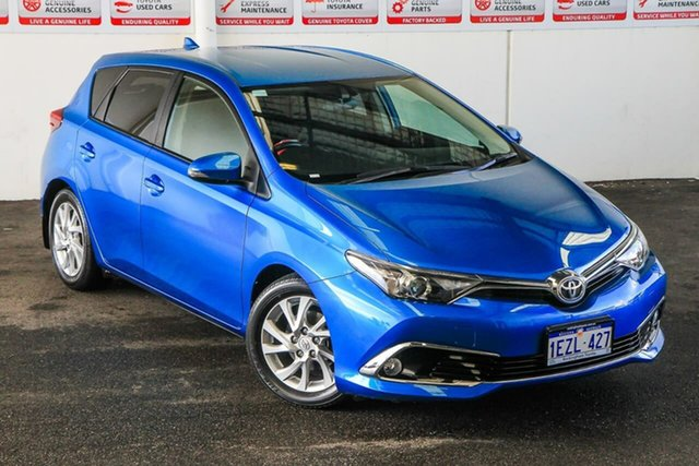 Pre-Owned Toyota Corolla ZRE182R MY15 Ascent Sport Rockingham, 2016 Toyota Corolla ZRE182R MY15 Ascent Sport Blue Gem 7 Speed CVT Auto Sequential Hatchback