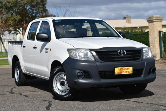 Used Toyota Hilux TGN16R MY14 Workmate Double Cab 4x2 Enfield, 2015 Toyota Hilux TGN16R MY14 Workmate Double Cab 4x2 White 4 Speed Automatic Utility