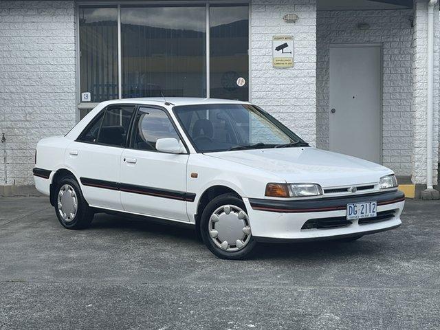 Used Mazda 323 BG10P2 Derwent Park, 1993 Mazda 323 BG10P2 White 4 Speed Automatic Sedan