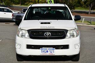 2009 Toyota Hilux KUN16R MY10 SR 4x2 White 5 Speed Manual Utility