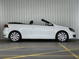 2012 Volkswagen Golf VI MY13 118TSI DSG White 7 Speed Sports Automatic Dual Clutch Cabriolet.