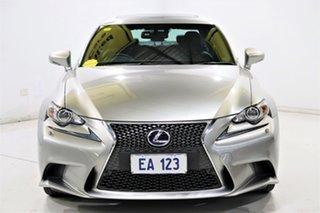 2014 Lexus IS AVE30R IS300h F Sport Silver 1 Speed Constant Variable Sedan Hybrid.