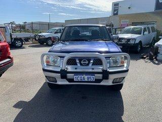 2005 Nissan Navara D22 ST-R (4x4) Blue 5 Speed Manual Dual Cab Pick-up.