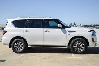 2020 Nissan Patrol Y62 Series 5 MY20 TI-L White 7 Speed Sports Automatic Wagon.