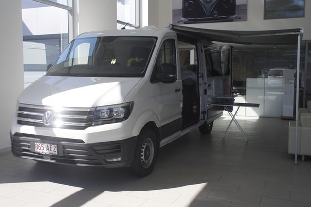 Demo Volkswagen Crafter SY1 MY20 35 MWB FWD TDI340 Newstead, 2020 Volkswagen Crafter SY1 MY20 35 MWB FWD TDI340 Candy White 8 Speed Automatic Van