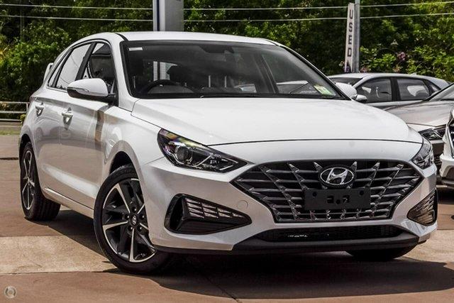 New Hyundai i30 PD.V4 MY21 Elite Oakleigh, 2021 Hyundai i30 PD.V4 MY21 Elite White 6 Speed Sports Automatic Hatchback