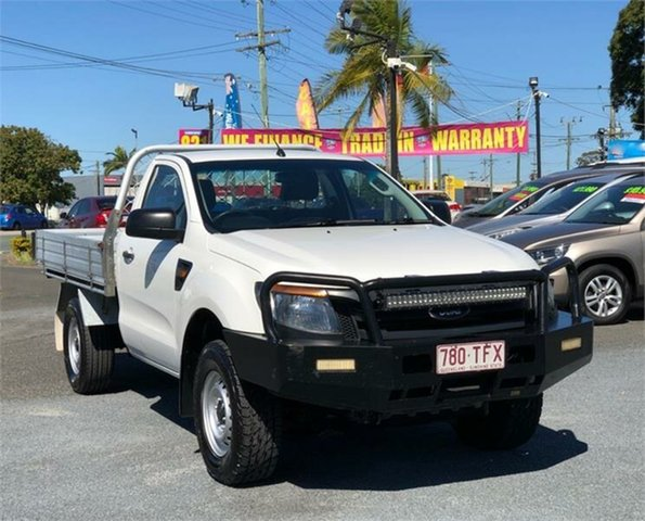 Used Ford Ranger PX XL Archerfield, 2013 Ford Ranger PX XL White 6 Speed Manual Cab Chassis