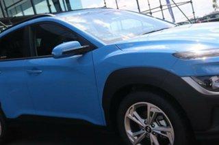 2021 Hyundai Kona Os.v4 MY21 Active 2WD Surfy Blue 8 Speed Constant Variable Wagon.