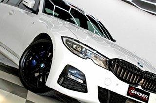 2019 BMW 330i F30 LCI M Sport White 8 Speed Auto Steptronic Sport Sedan.