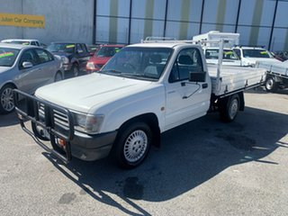 1999 Toyota Hilux RZN149R White 5 Speed Manual Cab Chassis.